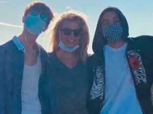 Britney shares rare photo with sons