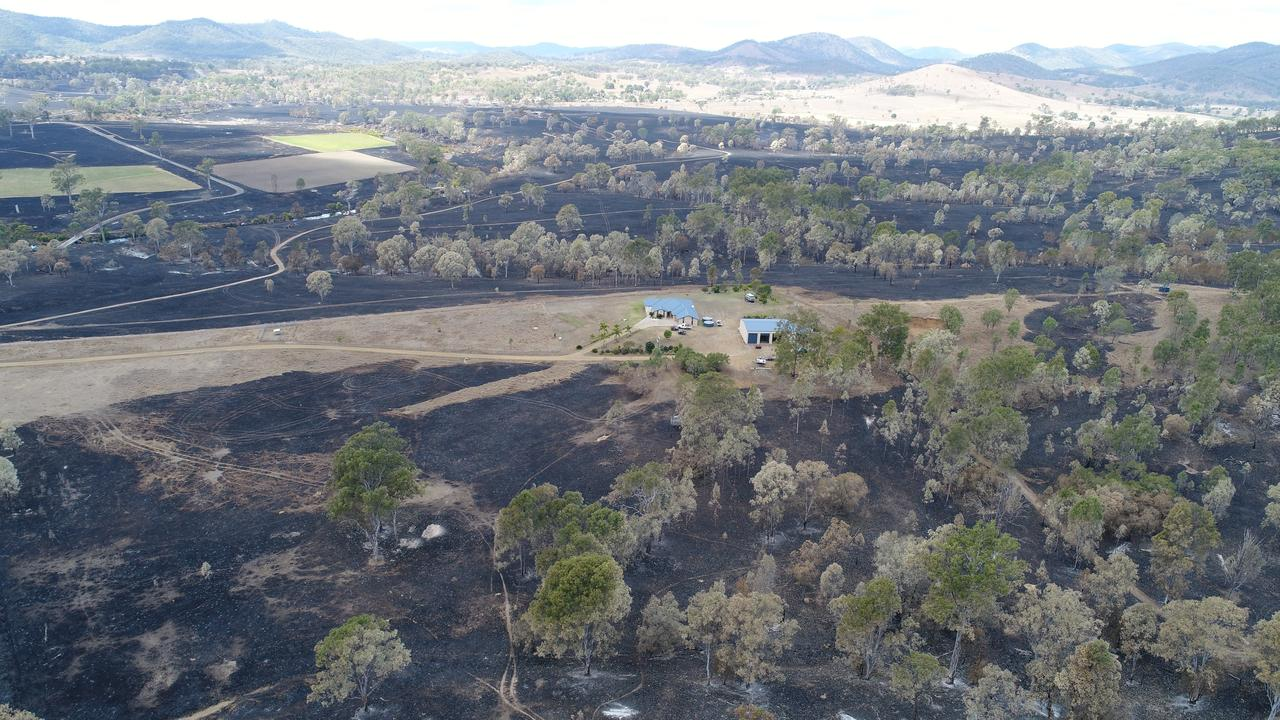 Aerial footage of the aftermath of the Woolooga fire in 2018. It's fascinating that the Indigenous origins of the word Woolooga is from the Gubbi Gubbi words for smoke and ground/place.
