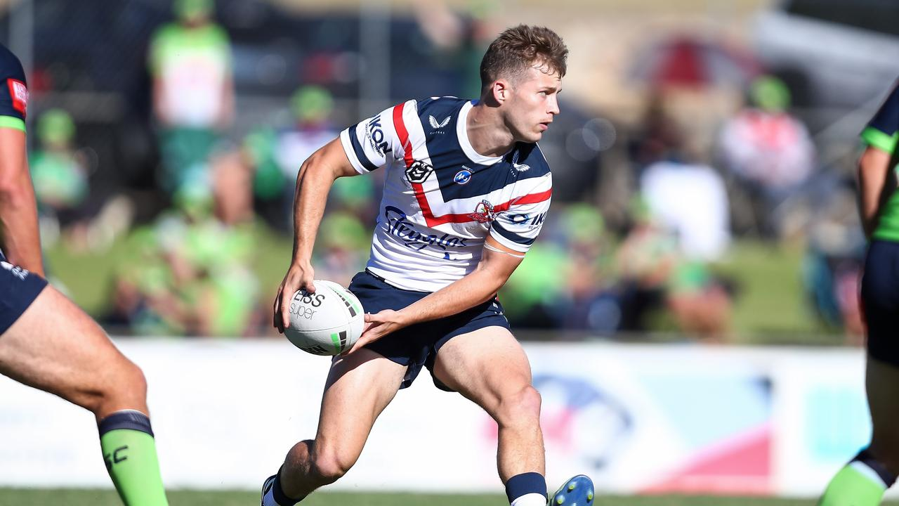 Sam Walker impressed in the Roosters' trial win against the Raiders last weekend. Picture: David Hossack/NRL Photos