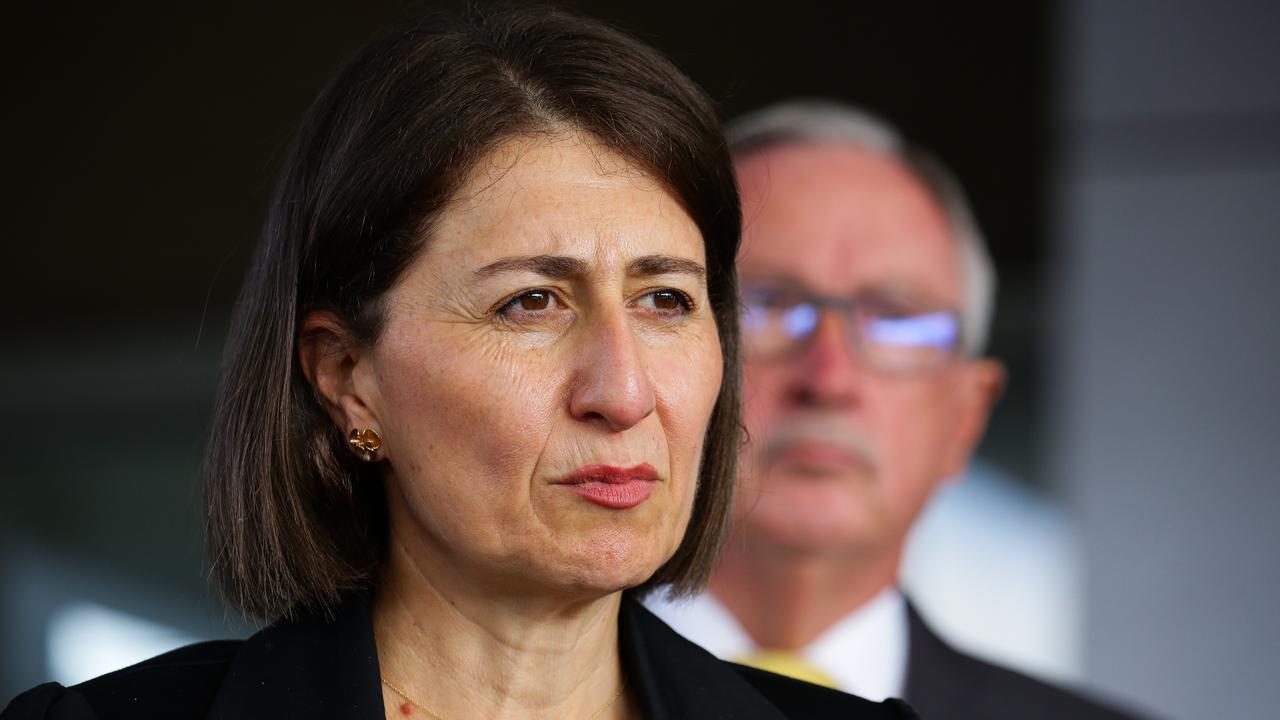 Premier Gladys Berejiklian and Health Minister Brad Hazzard. Picture: NCA NewsWire / Gaye Gerard