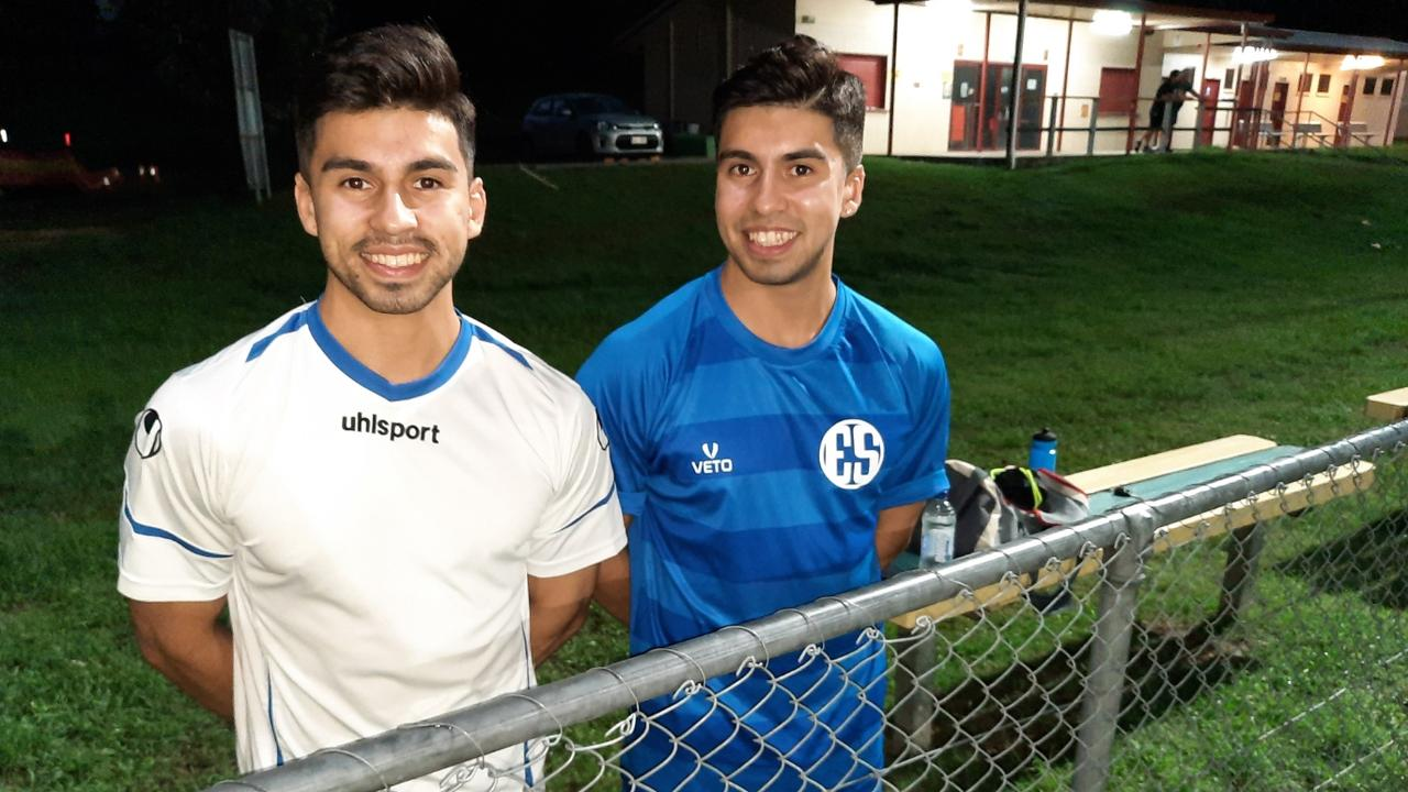 Western Spirit's identical twins Anthony and Gabriel Menendez share similar football goals. Picture: David Lems