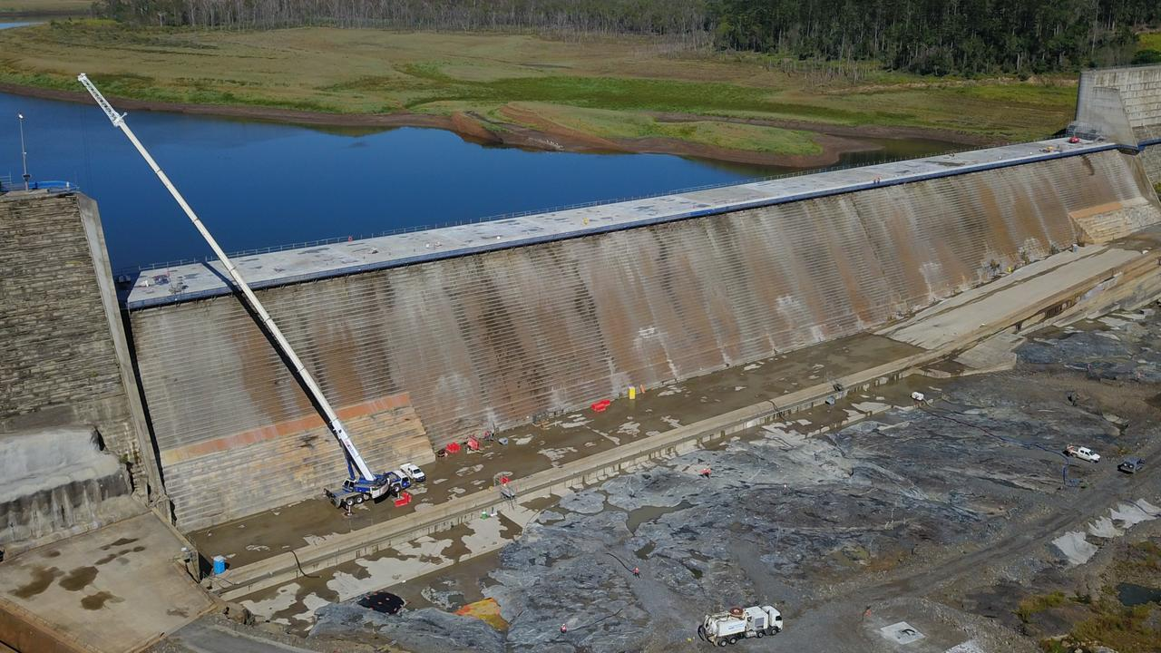 PARADISE: Essential Works on the Paradise Dam spillway are almost complete with Sunwater strengthening the structure and reducing the risk of dam failure.