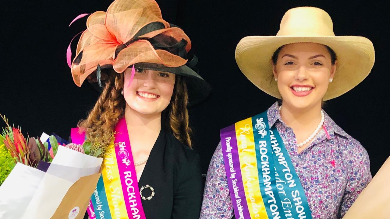 2019 Rockhampton Agricultural Show Miss Showgirl Winner, Natasha Hodda, left, and Rural Ambassador Winner, Claire Patterson