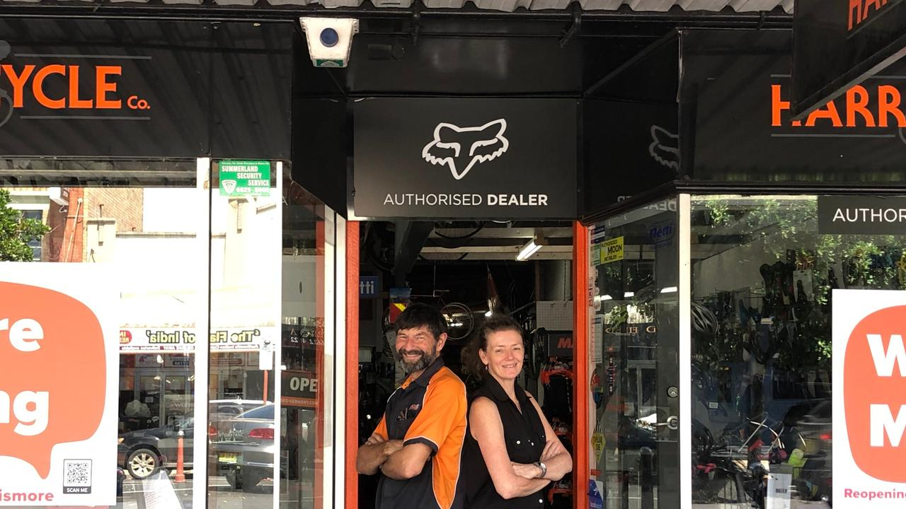 HISTORIC MOVE: After nearly 103 years in the same location, Harris Cycle Co is moving from Keen St, Lismore, but owner Darryl Pursey and partner Jo Bonaccorsi are excited about their new space at 63 Bridge St, North Lismore. Photo: Alison Paterson