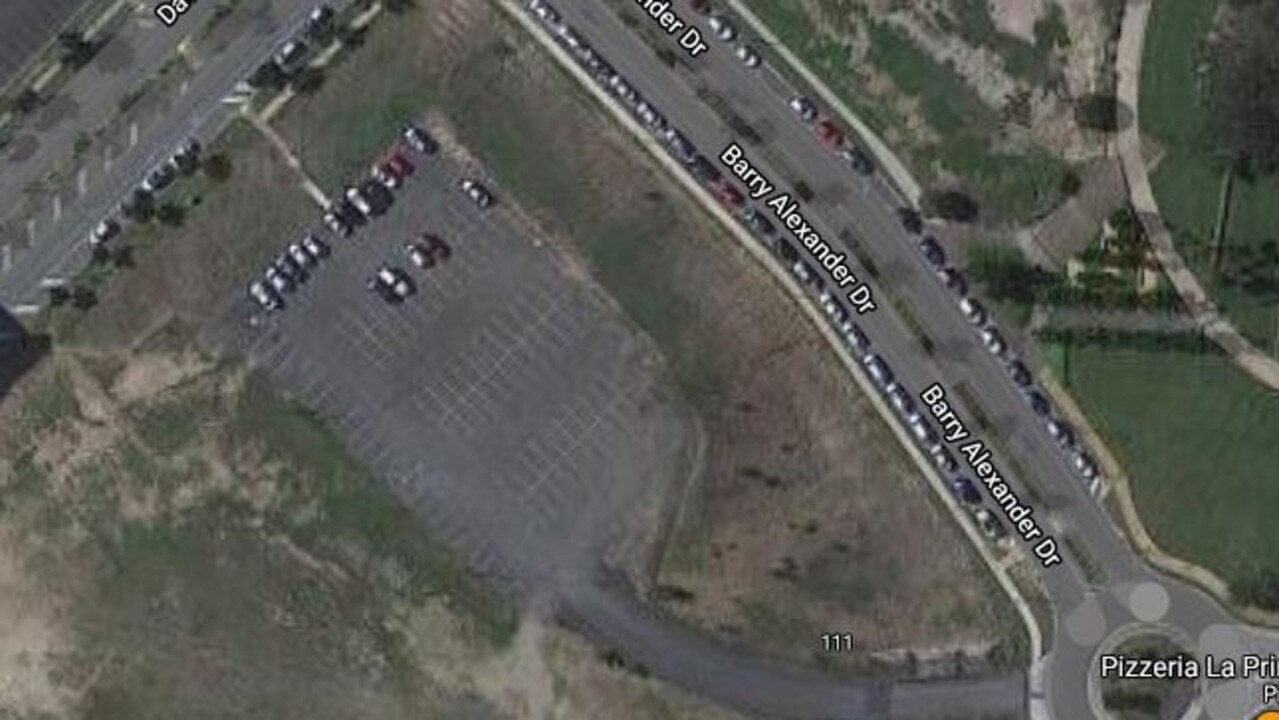 Unwelcome hooning has increased at this privately owned car park in Springfield Central. Pic: Google Maps