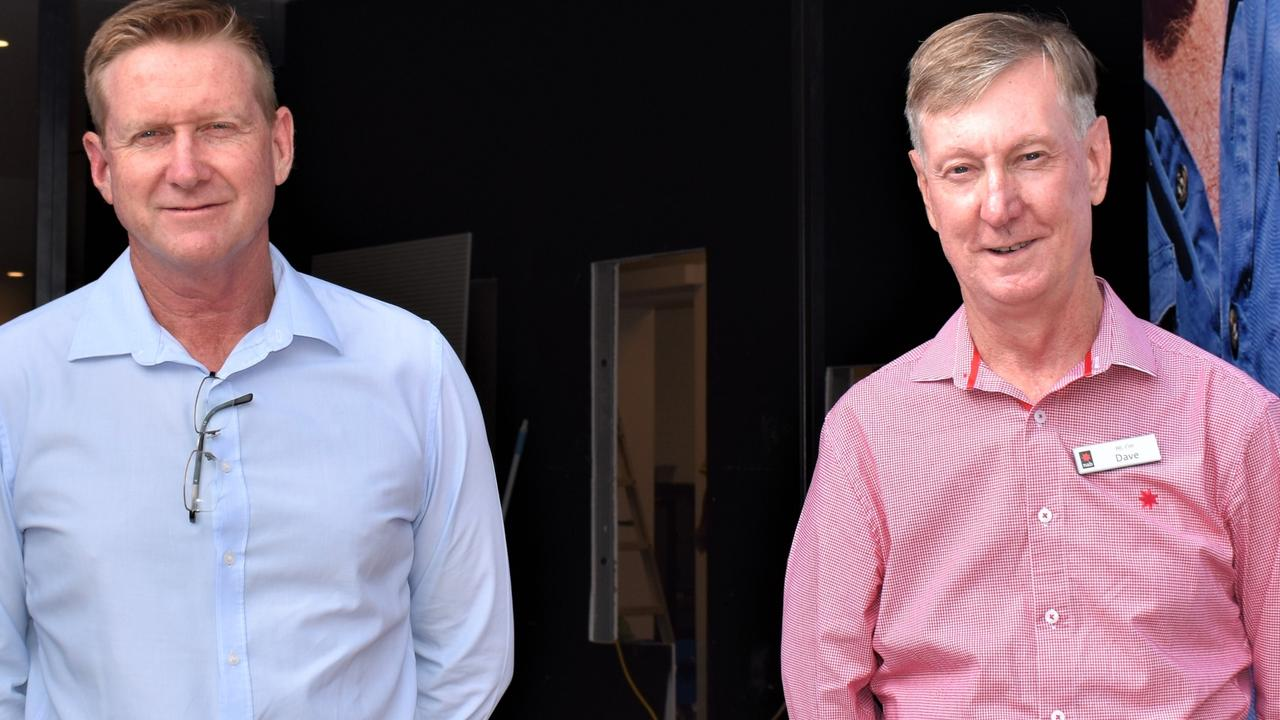Senior Business Banking Manager David Fletcher (left) and Branch Manager Dave Vickery (right) will lead their NAB staff in the newly renovated hub. Picture: Kristen Camp