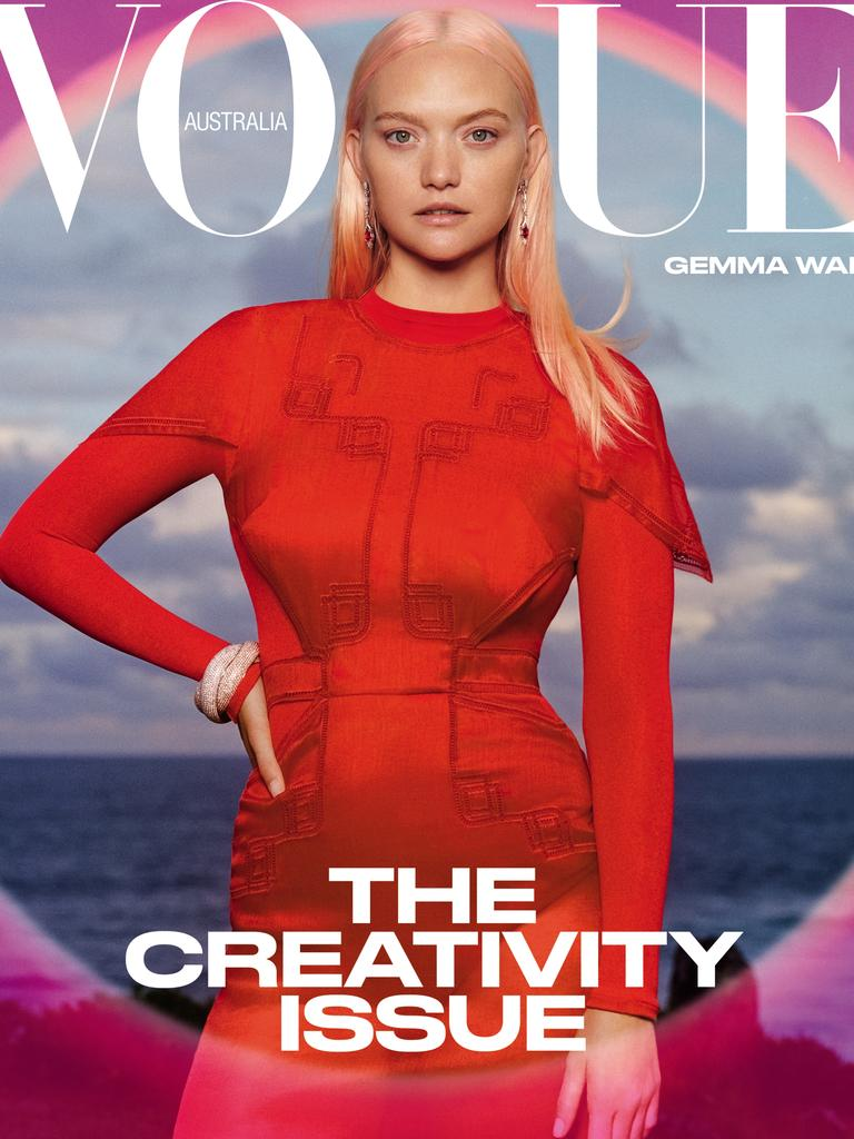 Australian model Gemma Ward appears on the cover of the latest March issue of Vogue Australia