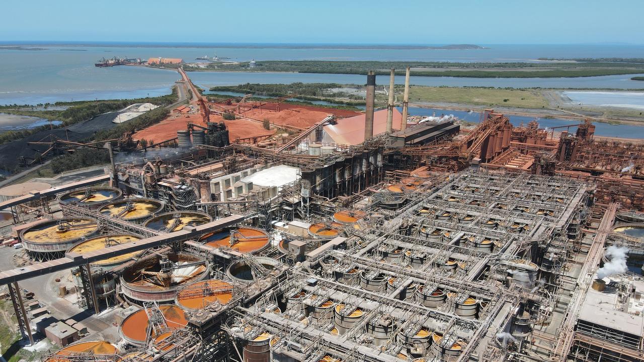 Queensland Alumina Limited Gladstone. Picture: Rodney Stevens DJI Mavic Air 2