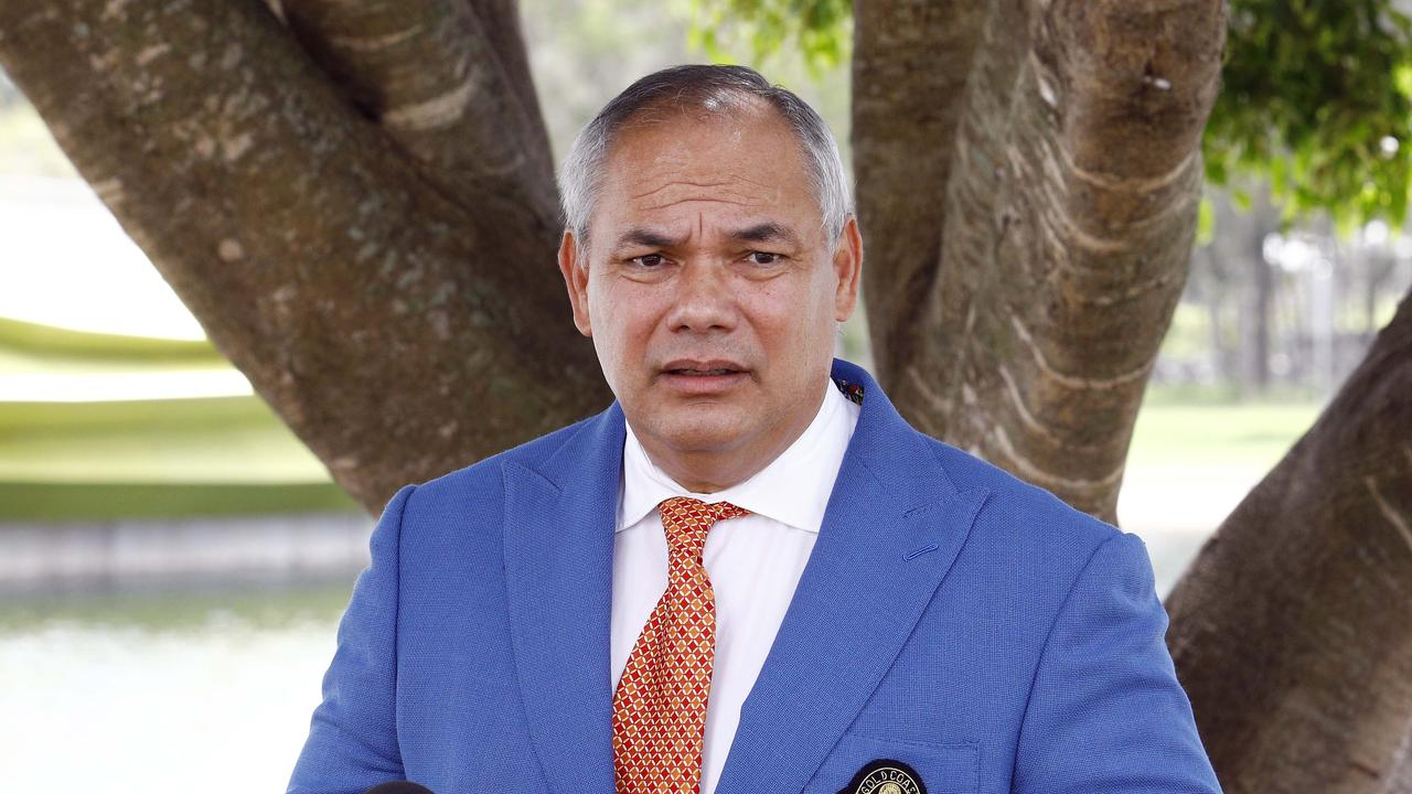 Gold Coast Mayor Tom Tate during a press conference. Picture: Tertius Pickard
