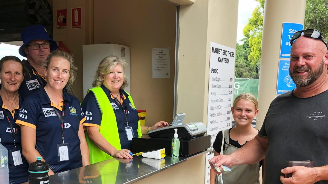 Marist Brothers Rams Lismore canteen squad fed the fans who watched the Gold Coast Titans play the New Zealand Warriors at Oakes Oval on February 27, 2021. Photo: Alison Paterson