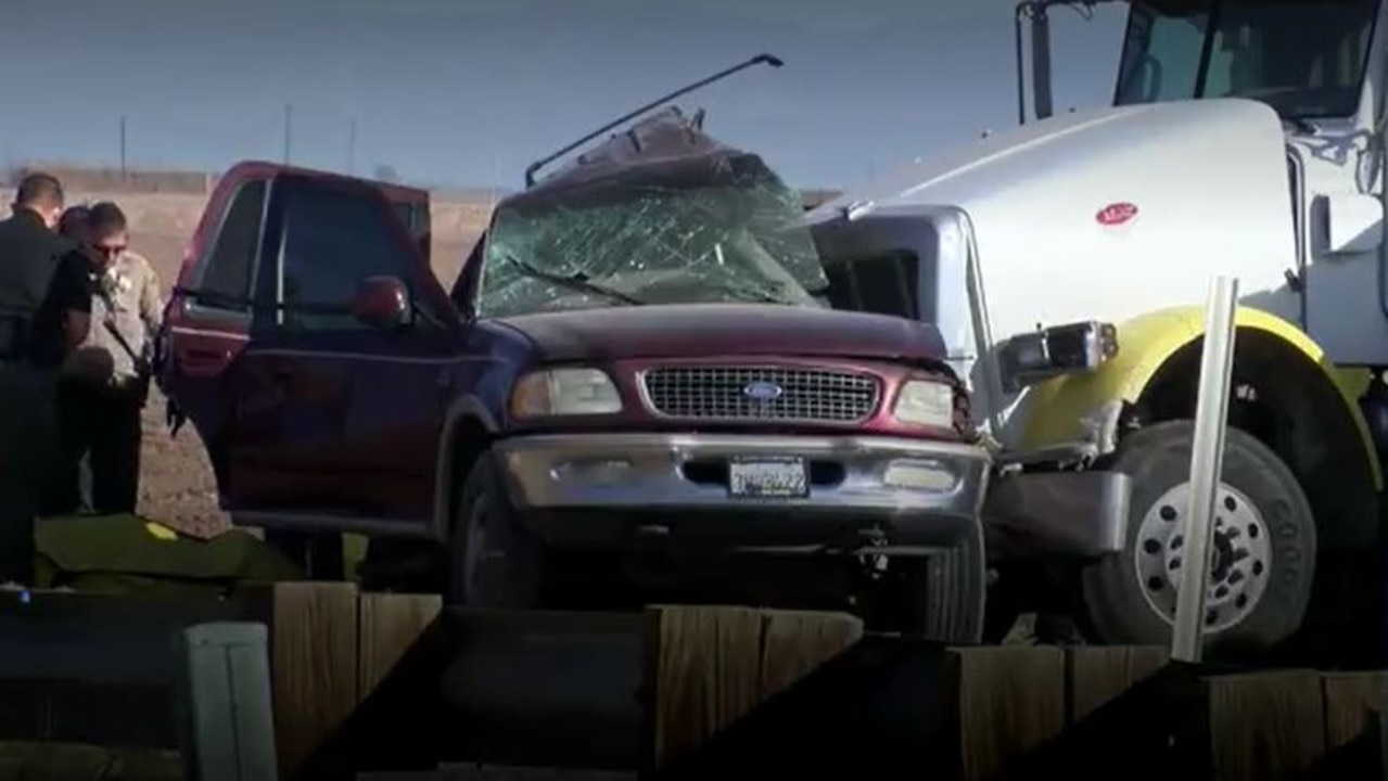 The aftermath of the crash. Picture: NBC News