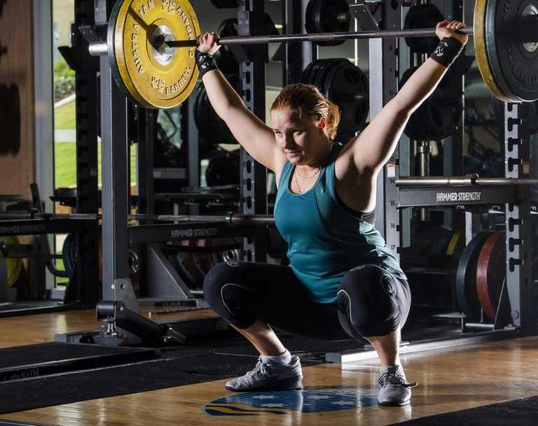 Toowoomba's Kelsey Francis, who trains at Bond University's gym, has her sights set on national success. Picture: Cavan Flynn.