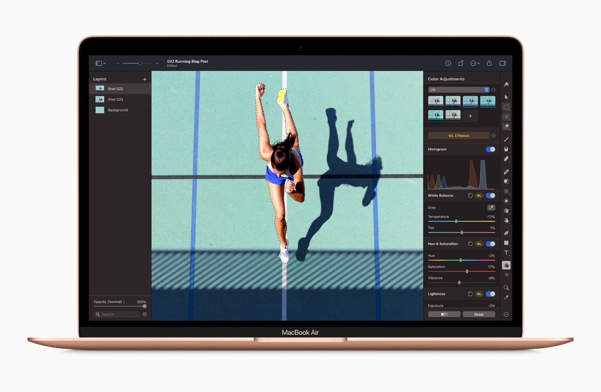 Working with photos and video is a lot quicker on the new MacBook Air with the M1 chip.