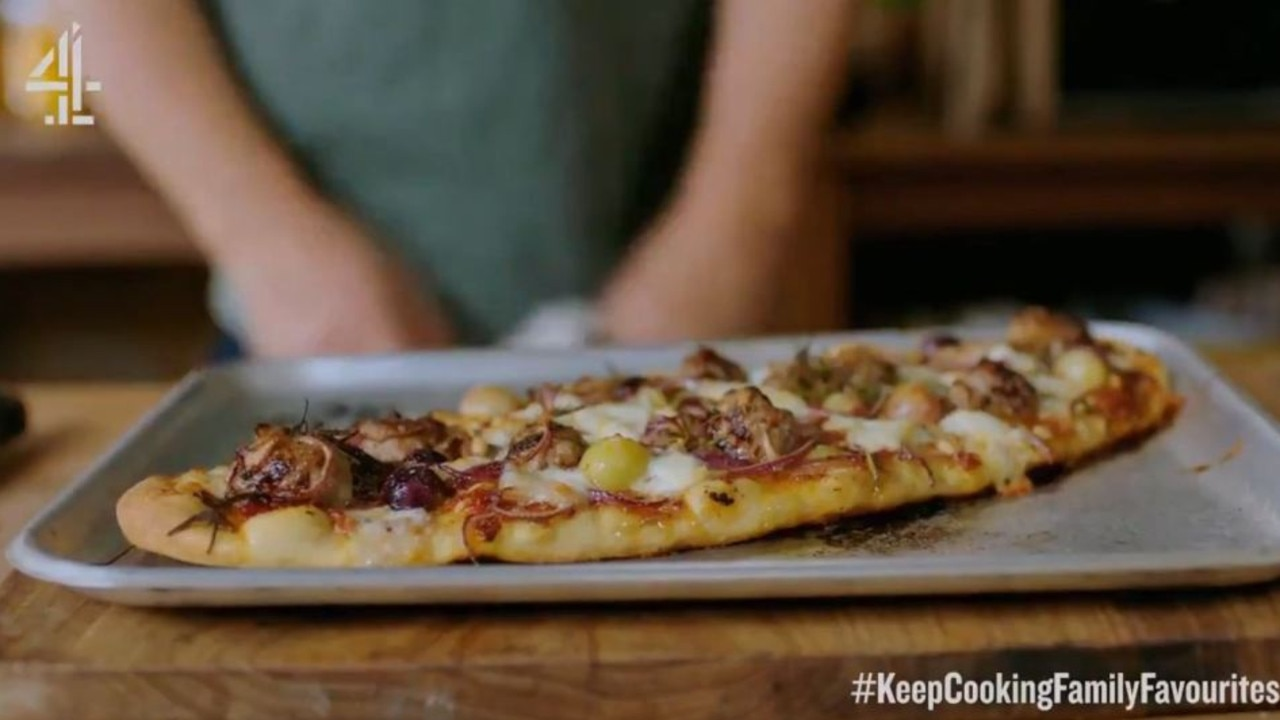 Jamie Oliver horrified some viewers by putting grapes on a pizza.