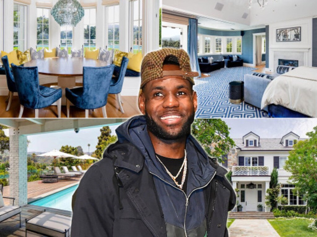 LeBron James is selling his LA home for $26.4 million. Picture: Realtor/Getty