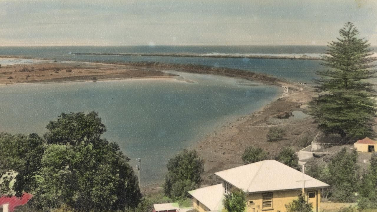 HOW ITS CHANGED: This is a historic photo of Shaws Bay before the Shaws Bay residential estate was built. For those with a keen eye, the diving tower can still be seen in the bottom right-hand corner of the bay. The large pine tree still stands near the Shaws Bay Hotel.