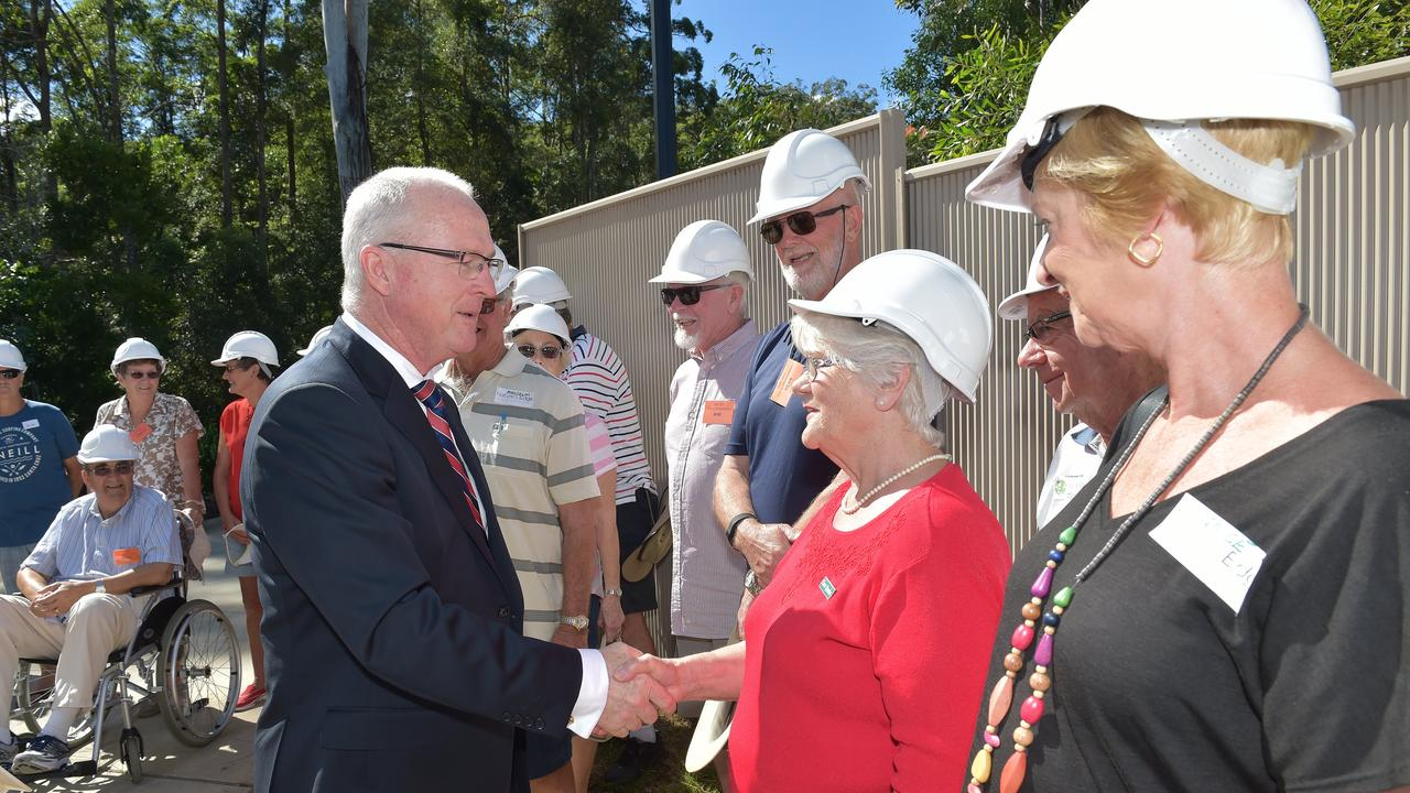 Mayor Mark Jamieson meets Nature's Edge residents back in 2016.