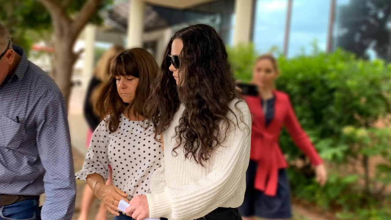 Police allege Jessica May Siobhan Wooldridge (right) had drugs in her system when a Holden Astra she was driving hit a power pole at Mons on December 13.