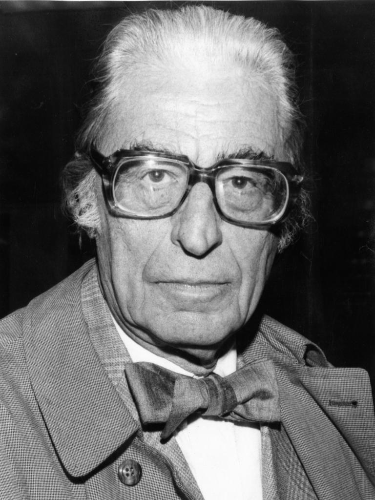 American author Dr. Seuss (Theodor Seuss Geisel), 73, in Adelaide to meet his young readers during a 1976 Australian tour.