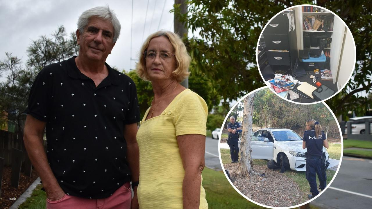 Ken Hallam and Lynda Reynolds had their Wurtulla home broken into and their car and other belongings stolen allegedly by three youths.