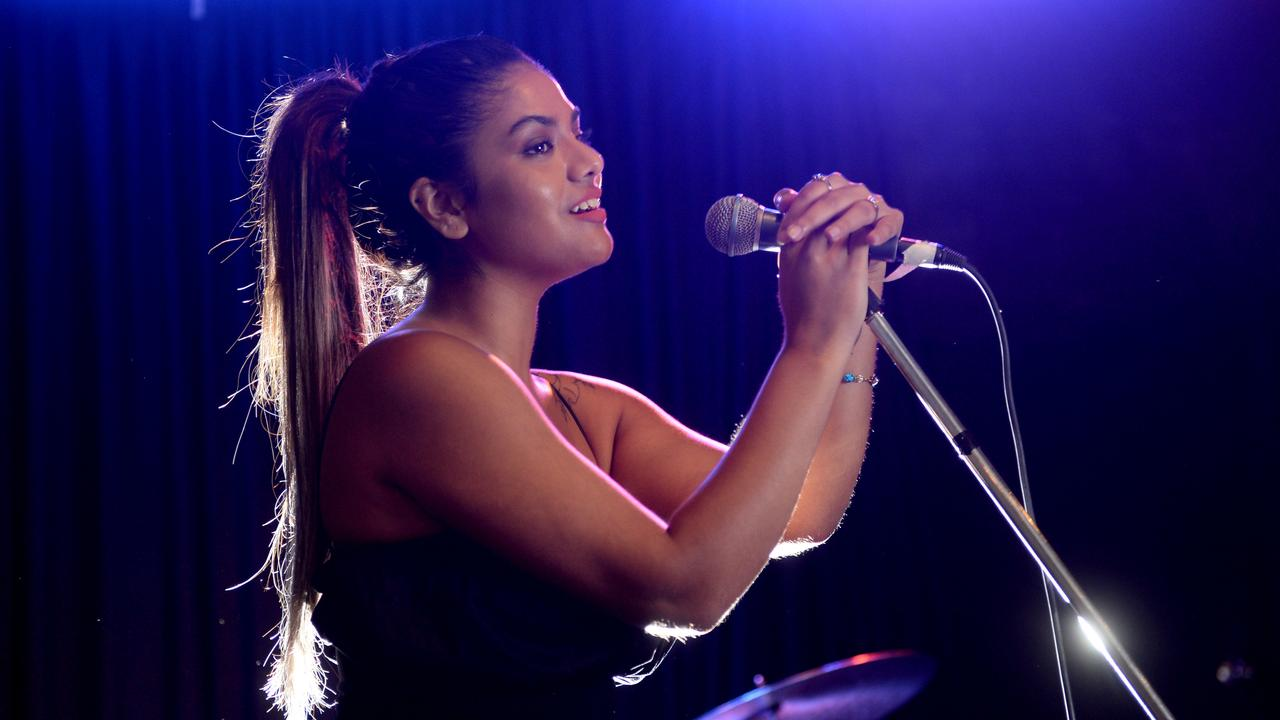 Musician Simran at the Vanguard hotel in Newtown before her show this evening. Picture: Jeremy Piper