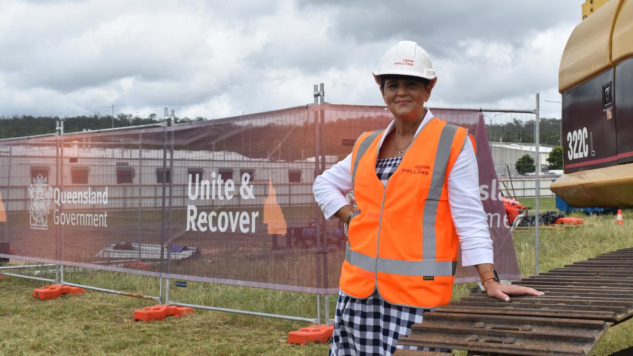 Lockyer Valley Regional Council Mayor Tanya Milligan at the sod turning of stage two of the Southern Queensland Correctional Precinct.