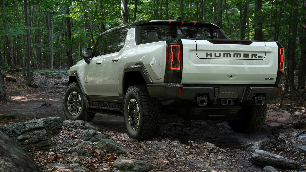 The Hummer can crab walk and drive diagonally.