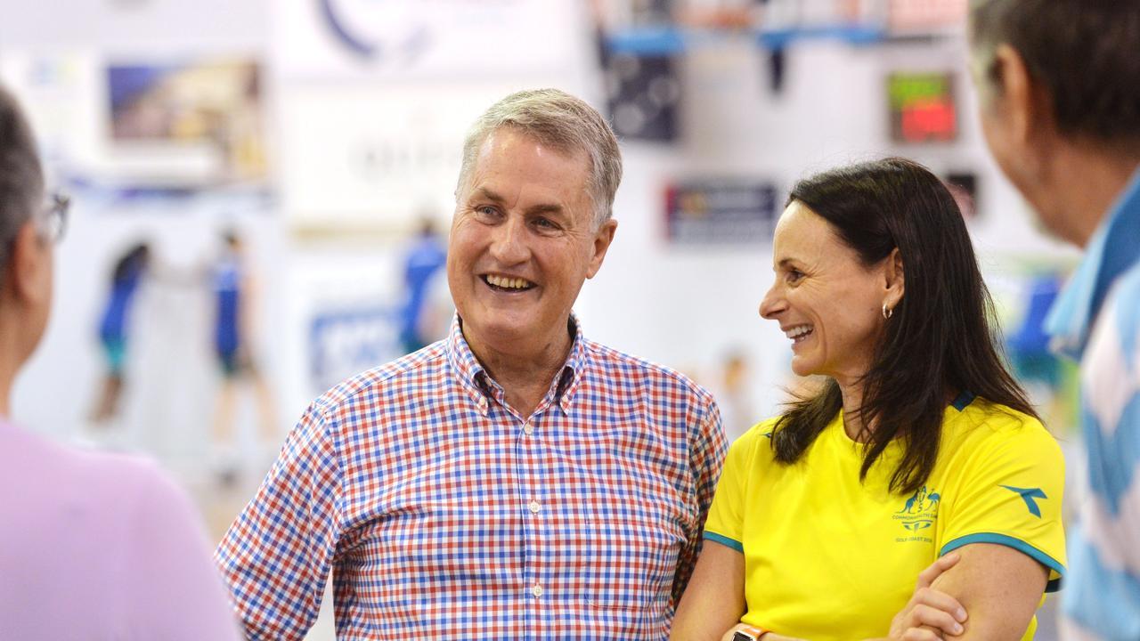 Mackay Mayor Greg Williamson with Sandy Brondello in 2018. Picture: Stuart Quinn