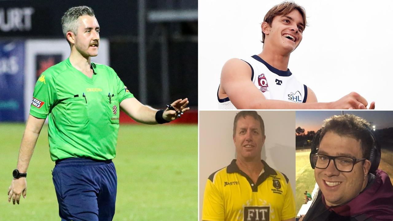 Sunshine Coast officials Zac Keenan, Jake Edgar, Shaun McCormack and Vic Collins