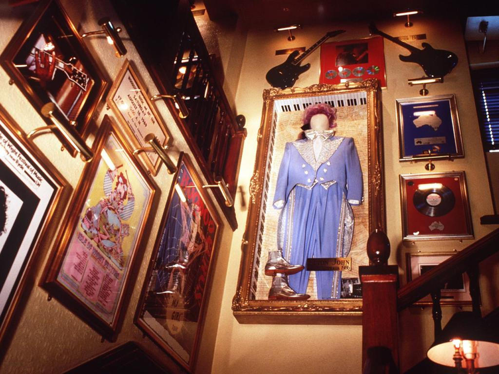Interior of Hard Rock Cafe, Sydney, in the 1990s.
