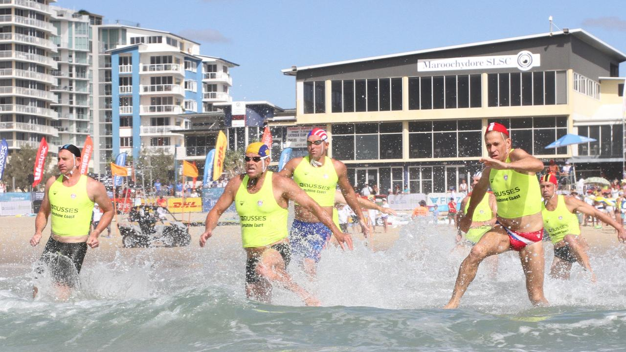 A surf race at the 2016 Aussies.