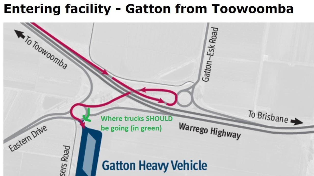 A diagram of the new Gatton truck pad facility.