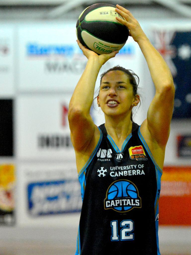 UC Capitals WNBL player Marianna Tolo. Photo: Callum Dick