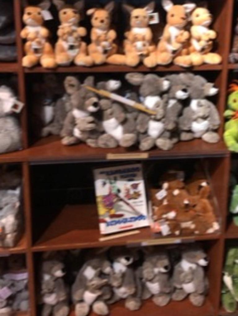 Australian Reptile Park has emptied (above) its shelves of the fake Aussie koalas.