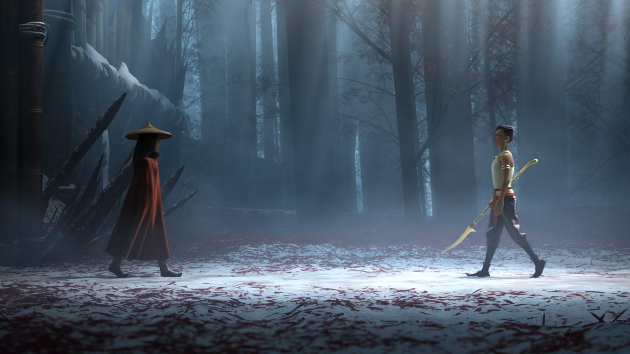 Two fierce female warriors. Picture: Disney