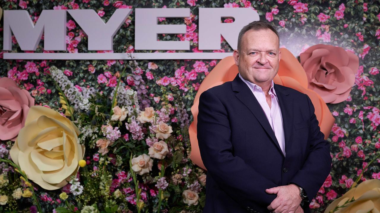 Myer CEO John King. Picture: Stefan Postles