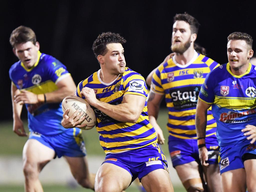 RUGBY LEAGUE: Noosa V Gympie. Noosa's Kurtis Shayler.