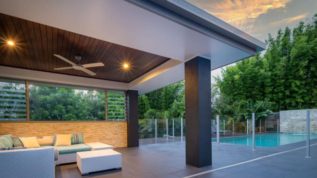 There are stunning outdoor spaces and an in-ground pool.