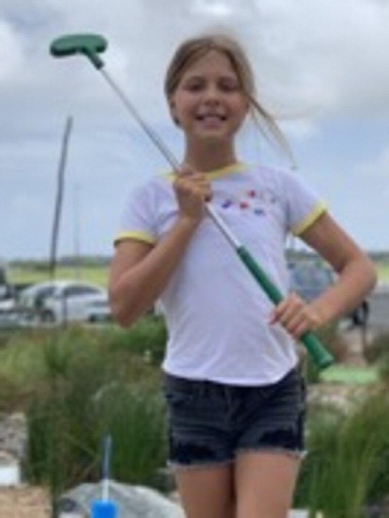 Sunshine Coast golfer Jett Matthews, 11 teed off in the junior version of Holey Moley.