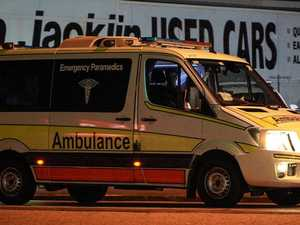 Woman in hospital after colliding with barrier
