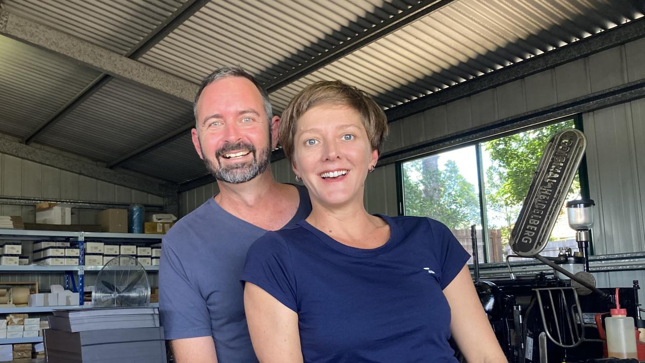 """Matt Tawse and Cat Childs say bringing their printing business to the Gympie region was a """"no brainer""""."""