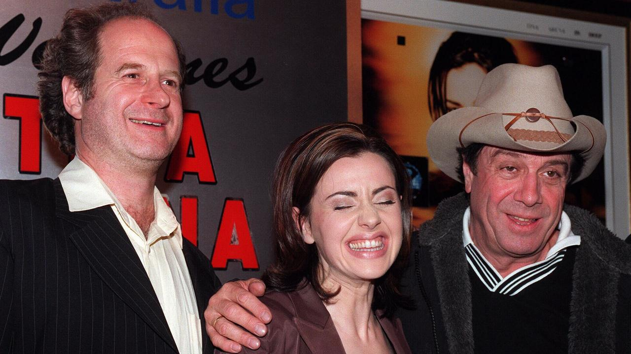 Gudinski and Molly Meldrum with Tina Arena in the late '90s.