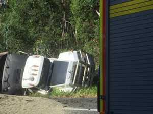 Traffic flowing once again after Bruce Highway rollover