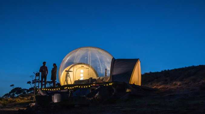 Next-level glamping with 'bubble tents' for stargazing