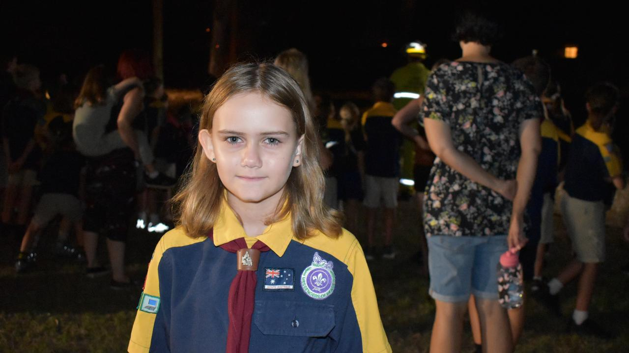Rockhampton police officers and fire crews visited the Mount Archer Scout Group on Wednesday March 3, 2021. Photos: Vanessa Jarrett