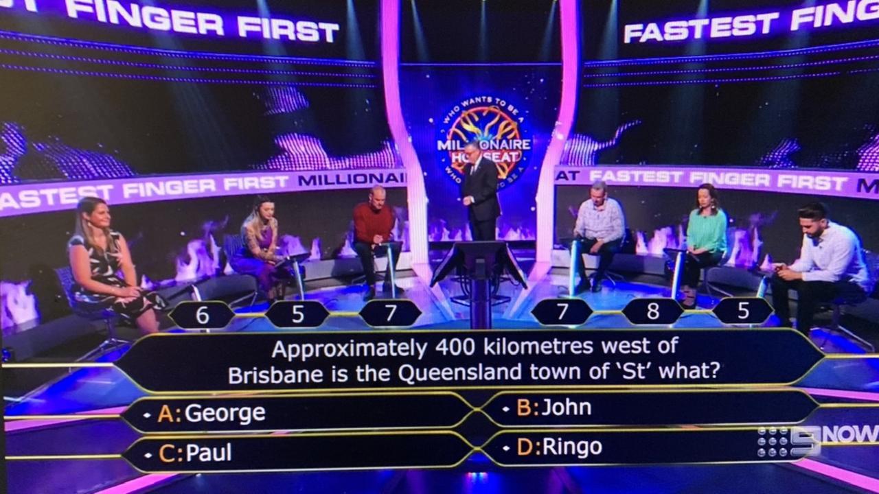 Millionaire Hot Seat. Pic: Nine