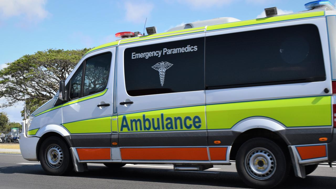 Multiple ambulance crews attended the crash scene on the New England Highway.