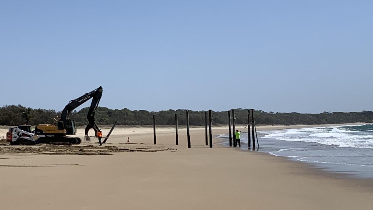 Bucasia Beach swimming enclosure has been taken down by council.
