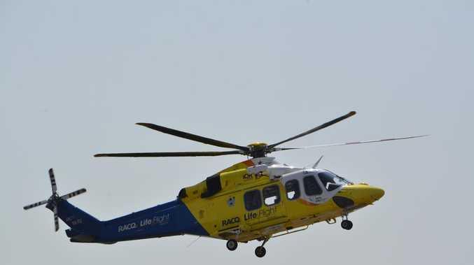 Rescue helicopter tasked to motorbike crash on Fraser Island