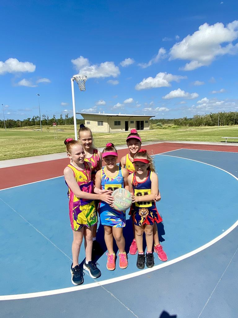 ALL SMILES: Capricorn Coast Netball Association players from left Majella, Taia, Zali, Aryiana and Aria check out the new amenities block which will help keep the queues down during sporting carnivals and events at Barmaryee Multi Sports Precinct. Picture: Contributed